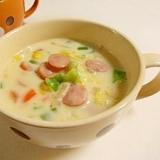 食べるウインナーキャベツクリームスープ