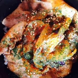 ケチャップで洋風♪茄子と豚の生姜焼き丼