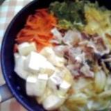 フライパンで簡単&時短♪だし不要の肉豆腐鍋