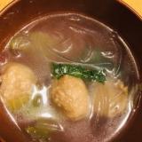 簡単!レタスと肉団子の中華スープ