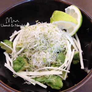 減塩・アルファルファと裂けるチーズのサラダ