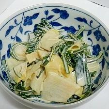 茎ワカメと筍の味噌マヨ和え