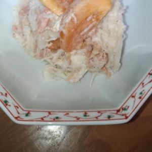 柿と大根とツナのマヨネーズ和え