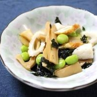 枝豆とちくわとメンマのナムル