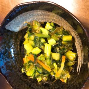 昆布と小松菜のわさびの漬物