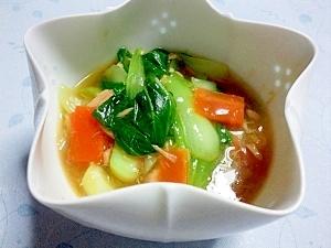 チンゲン菜とツナのくず煮
