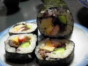 節分用の巻き寿司(恵方まき)