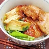 こってり豚丼★withネギ&小松菜