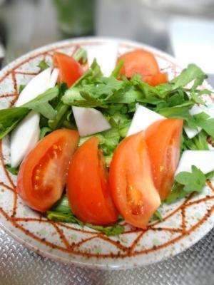 美肌★春菊とトマトのサラダ