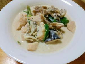 低カロリー☆鶏とキノコのクリーム煮