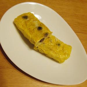 黒豆の煮豆入り卵焼き