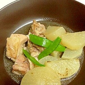 圧力鍋で簡単☆鶏肉と大根の塩バター煮