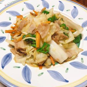 あまり野菜の甘辛野菜炒め