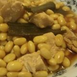 鶏と大豆の醤油煮