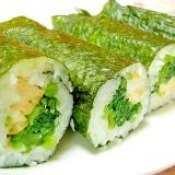 リメイク❤ほうれん草の胡麻和えと卵の巻き寿司❤