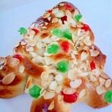 子供と一緒に飾りつけ☆クリスマスツリーパン