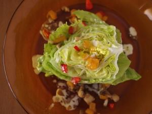 柿と舞茸、パプリカの簡単ウェッジサラダ