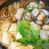 浅鍋が良い感じ☆ 割り下で「牡蠣すき鍋」