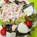 茹で鶏と豆腐のサラダ