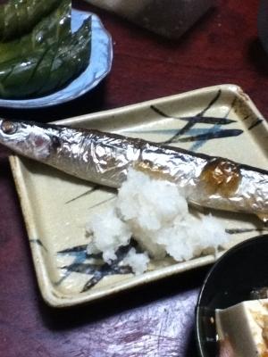 サンマの塩麹焼き