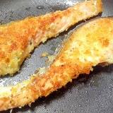 ガーリックオイルで焼く鮭のムニエル