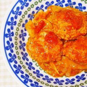 豚ミンチ・キャベツのカレーホールトマト煮