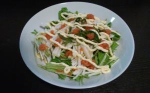水菜と大根の明太サラダ