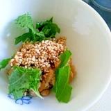 青しそとポン酢の納豆