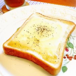 甘しょっぱい♡ハニーチーズトースト