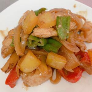 鶏ササミと彩り野菜の味噌炒め
