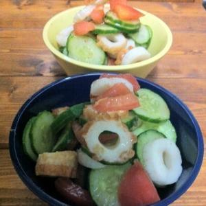 簡単☆トマキューちくわの和風サラダ