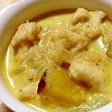 トリムネ肉とサツマイモのクリーム煮