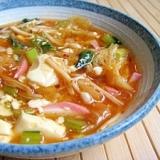 キムチチゲ風なんでもスープ☆