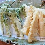 田舎の恵み 山の幸天ぷら カラッと揚げるコツ