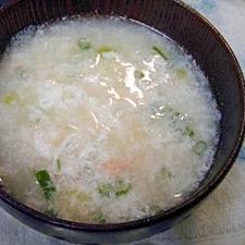 卵白とカニの中華スープ