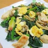 ほうれん草とささ身と卵の炒め物