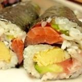 サルでも巻ける♪ぐるぐる巻き♪海鮮巻寿司