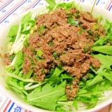 超簡単!オイルサーディンと水菜と大根のサラダ