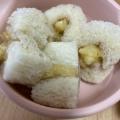 離乳食 後期 バナナとリンゴのミニロールケーキ