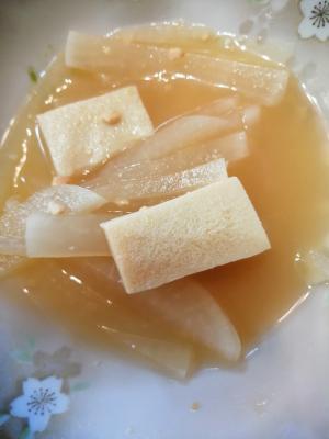 大根と高野豆腐の味噌汁