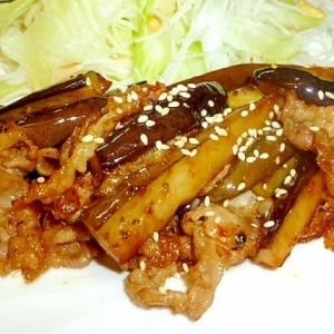 ご飯が進む☆細切り茄子と豚肉の甘辛炒め♪