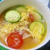 ズッキーニの酸辣湯スープ