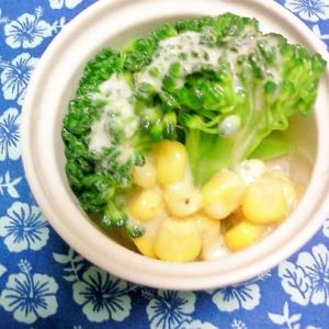 ブロッコリーとコーンの塩ドレヨーグルトサラダ