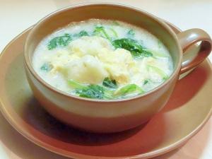 長芋の胡麻豆乳の美肌スープ