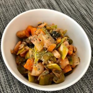 余ったお野菜のカポナータ風ケチャップ煮