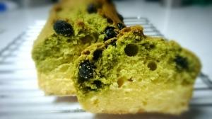簡単!甘納豆と抹茶のパウンドケーキ