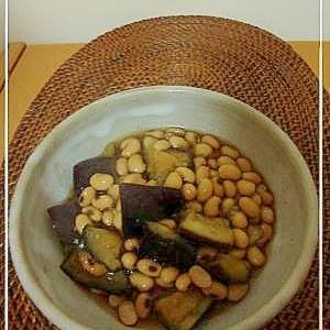 なすと大豆の煮物