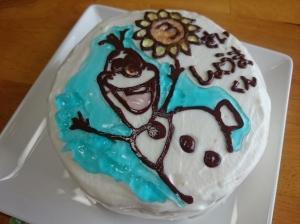 ☆アナと雪の女王☆オラフのバースデーケーキ