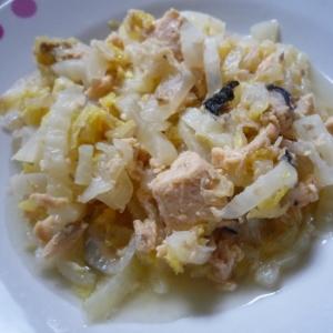 白菜と大根とカラフトマス缶の旨煮
