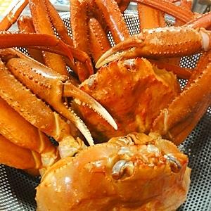 お安い蟹でも美味しく、蟹の塩茹で